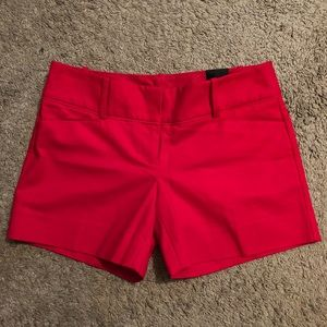 NWT THE LIMITED Tailored Red Shorts